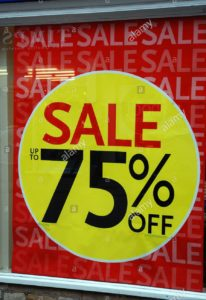 Advertising tricks - sale sign